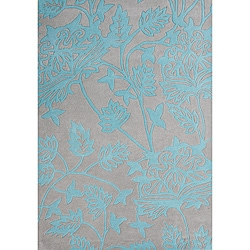 Alliyah Handmade Silver Cloud New Zealand Blend Wool Rug (5' x 8')