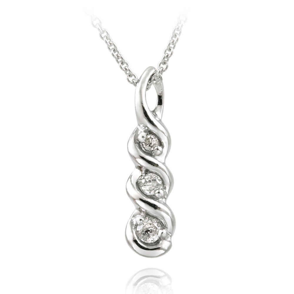 Journey necklace all collections of necklace journey necklace db designs sterling silver 1 8ct tdw white diamond journey aloadofball Gallery