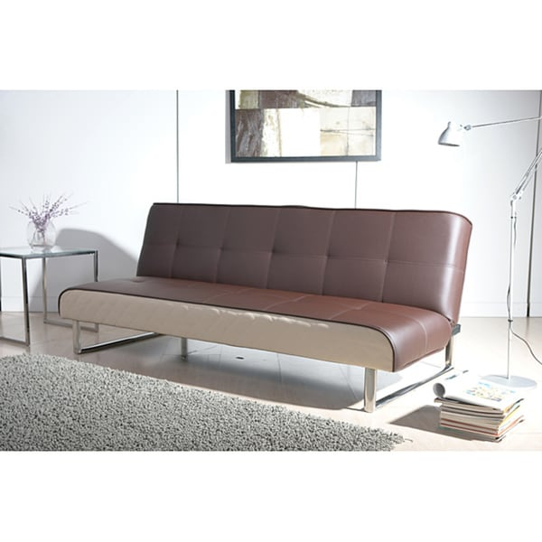 Seattle brown and cream futon sofa bed free shipping for Seattle sofa bed