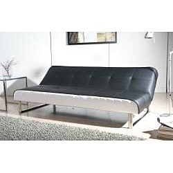 Seattle Black and White Futon Sofa Bed - Thumbnail 1