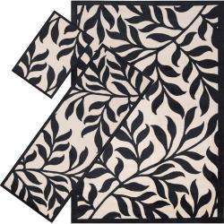 Woven Black Tabluar 3-piece Rug Set - Thumbnail 0