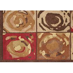Alliyah Handmade Mocha Mousse New Zealand Blend Wool Rug (8' x 10') - Thumbnail 2