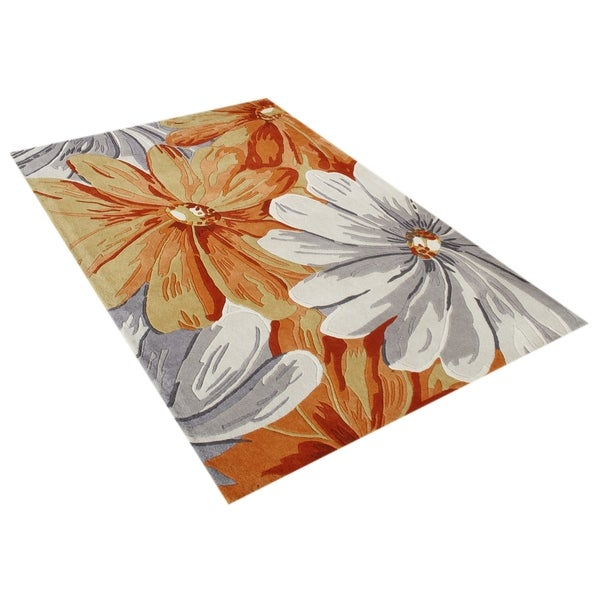 Alliyah Handmade Eastern Colors New Zealand Blend Wool Rug - 5' x 8'