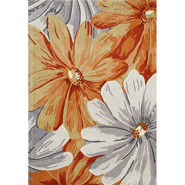 Alliyah Handmade Eastern Colors New Zealand Blend Wool Rug (8' x 10')