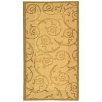 Safavieh Oasis Scrollwork Natural/ Brown Indoor/ Outdoor Rug - 2' x 3'7