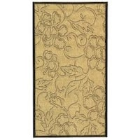 Safavieh Aruba Sand/ Black Indoor/ Outdoor Rug - 2' x 3'7