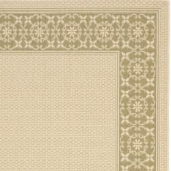 Safavieh Courtyard Cream/ Green Indoor/ Outdoor Rug (5'3 x 7'7) - Thumbnail 1