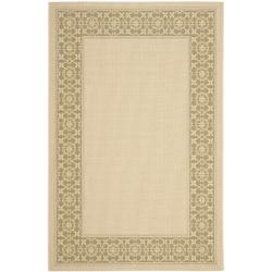 "Safavieh Courtyard Cream/ Green Indoor/ Outdoor Rug (8' x 11'2"")"