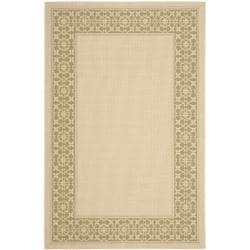 Safavieh Courtyard Cream/ Green Indoor/ Outdoor Rug - 8' x 11'2' - Thumbnail 0