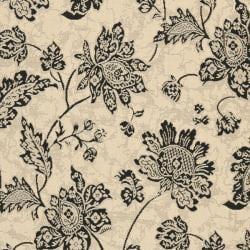 Safavieh Courtyard Cream/ Black Indoor/ Outdoor Rug (6'7 x 9'6) - Thumbnail 2