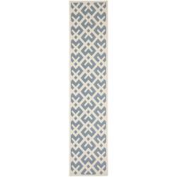Safavieh Courtyard Contemporary Blue/ Bone Indoor/ Outdoor Rug (2' x 3'7)