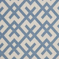 Safavieh Courtyard Contemporary Beige/ Blue Indoor/ Outdoor Rug (5'3 x 7'7) - Thumbnail 2