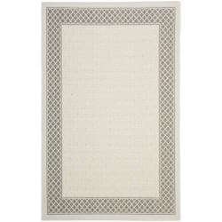 Safavieh Light Grey/ Anthracite Indoor Outdoor Rug (6'7 x 9'6)