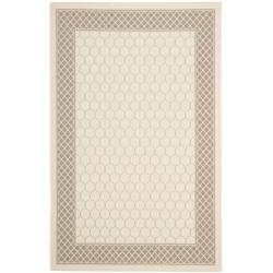 Safavieh Poolside Beige/Dark Beige Indoor/Outdoor Lattice-Pattern Rug (6'7 x 9'6) - 6'7 x 9'6 - Thumbnail 0