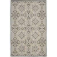 Safavieh Light Grey/Anthracite Traditional-Motif Indoor/Outdoor Rug - 8' x 11'2