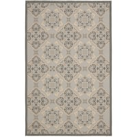 Safavieh Light Grey/Anthracite Traditional-Motif Indoor/Outdoor Rug - 8' X 11'
