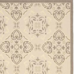 Safavieh Poolside Beige/Dark Beige Indoor/Outdoor Area Rug (8' x 11'2) - Thumbnail 2