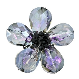 Handmade Beautiful Rainbow Daisy Glass Floral Prism Pin-Brooch (Thailand)