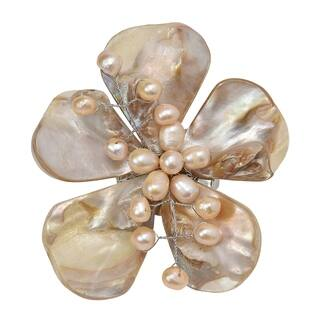 Handmade Natural Shells Five Petal Beauty Floral Pin-Brooch (Thailand)|https://ak1.ostkcdn.com/images/products/6680205/P14236140.jpg?impolicy=medium