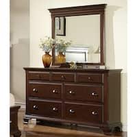 Picket House Furnishings Brinley Cherry Dresser & Mirror Set
