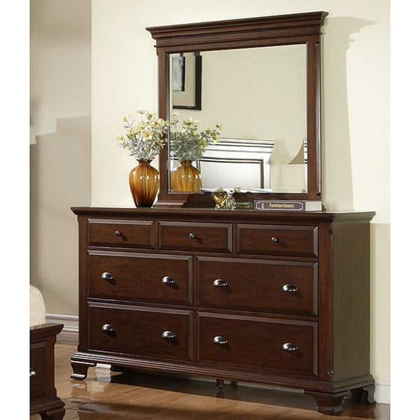 Picket House Furnishings Brinley Cherry Dresser & Mirror Set by Picket House