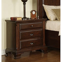 Elements Torino Cherry 3-drawer Nightstand