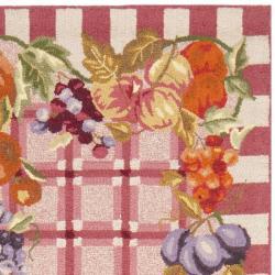 Safavieh Hand-hooked Fruits Rose Wool Rug (2'6 x 6') - Thumbnail 1