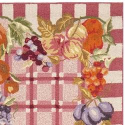 Safavieh Hand-hooked Fruits Rose Wool Rug (2'6 x 8') - Thumbnail 1
