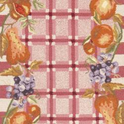 Safavieh Hand-hooked Fruits Rose Wool Rug (2'6 x 8') - Thumbnail 2