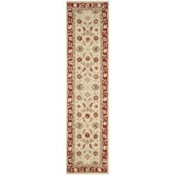 Safavieh Hand-hooked Oushak Ivory/ Rust Wool Rug (2' x 3') - Thumbnail 2
