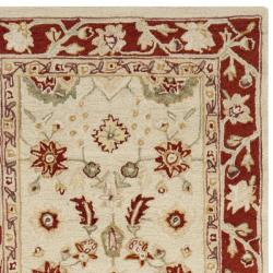 Safavieh Hand-hooked Oushak Ivory/ Rust Wool Rug (2'6 x 10')