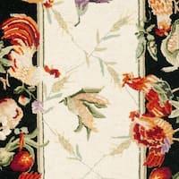 "Safavieh Hand-hooked Roosters Ivory/ Black Wool Rug - 2'6"" x 6'"