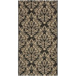 Safavieh Poolside Black/ Cream Indoor Outdoor Rug (2'7 x 5')