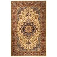 Safavieh Handmade Heritage Traditional Tabriz Ivory/ Red Wool Rug - 5' x 8'