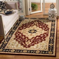 Safavieh Handmade Heritage Traditional Tabriz Red/ Black Wool Rug - 4' x 6'