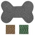 """Dog Bone Indoor/ outdoor Braided Rug (19"""" x 27"""")"""