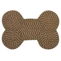 """Dog Bone Indoor/ Outdoor Braided Rug (14"""" x 21"""")"""