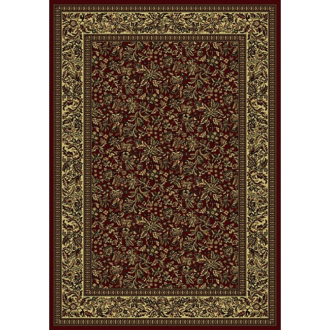 Admire Home Living Caroline Floral Burgundy Area Rug (7'9 x 11') - 7'9 x 11' - Thumbnail 0