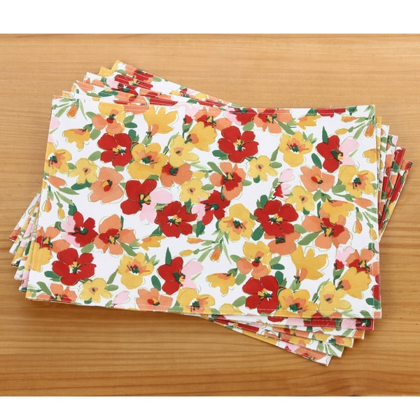 Primavera Printed 13x18-inch Fabric Place Mats (Set of 6)