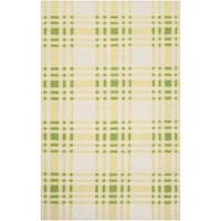 Hand-woven Green High Kite Wool Area Rug - 5' x 8'