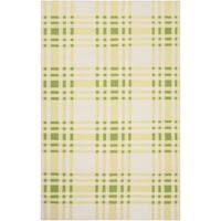 Hand-woven Green High Kite Wool Area Rug - 5' x 8'