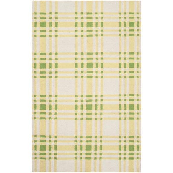 Hand-woven Green High Kite Wool Area Rug - 8' x 11'