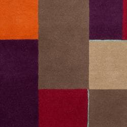 Harlequin Hand-Tufted Multi Opaque Geometric Pattern Wool Area Rug (5' x 8') - Thumbnail 2