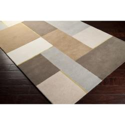 Harlequin Hand-tufted Multi Opaque Geometric Pattern Wool Rug (8' x 10') - Thumbnail 1