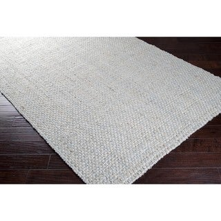 Hand-woven Grey Japays Natural Fiber Jute Rug (5' x 8')