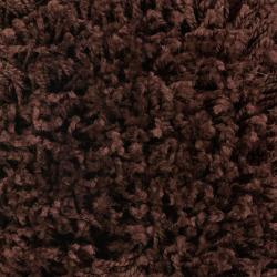 """Woven Brown Luxurious Soft Abstract Shag Rug (7'10"""" x 10'6"""")"""