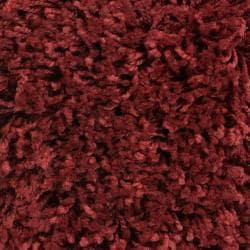 Woven Red Luxurious Soft Shag Area Rug (7'10 x 10'6) - Thumbnail 2