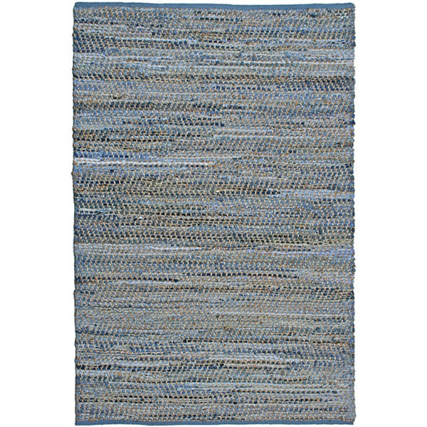 Blue Jeans Denim Handmade Area Rug (5' x 8')