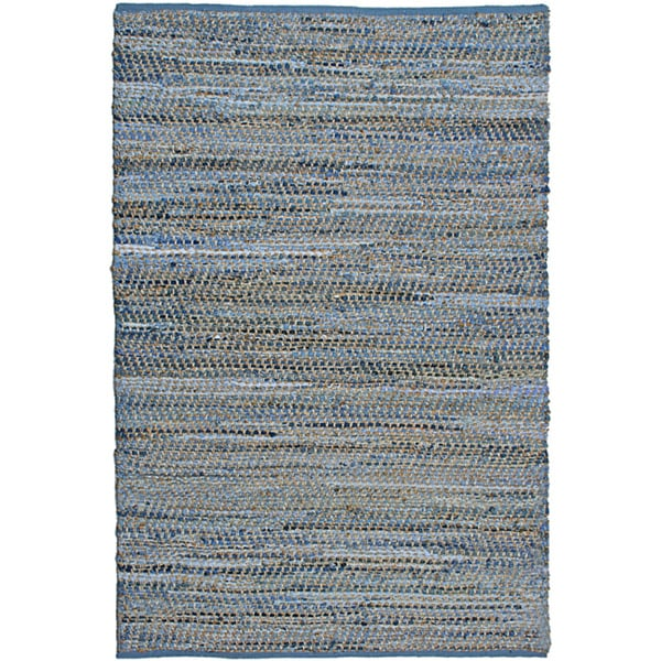 Hand-woven Blue Jeans Denim Rug (5' x 8') - Free Shipping ...