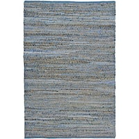 Blue Jeans Denim Handmade Area Rug - 5' x 8'